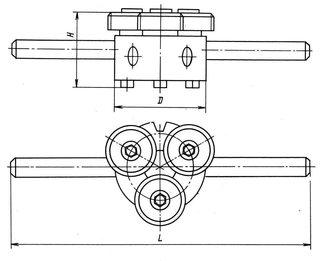 размерный эскиз плашки НП